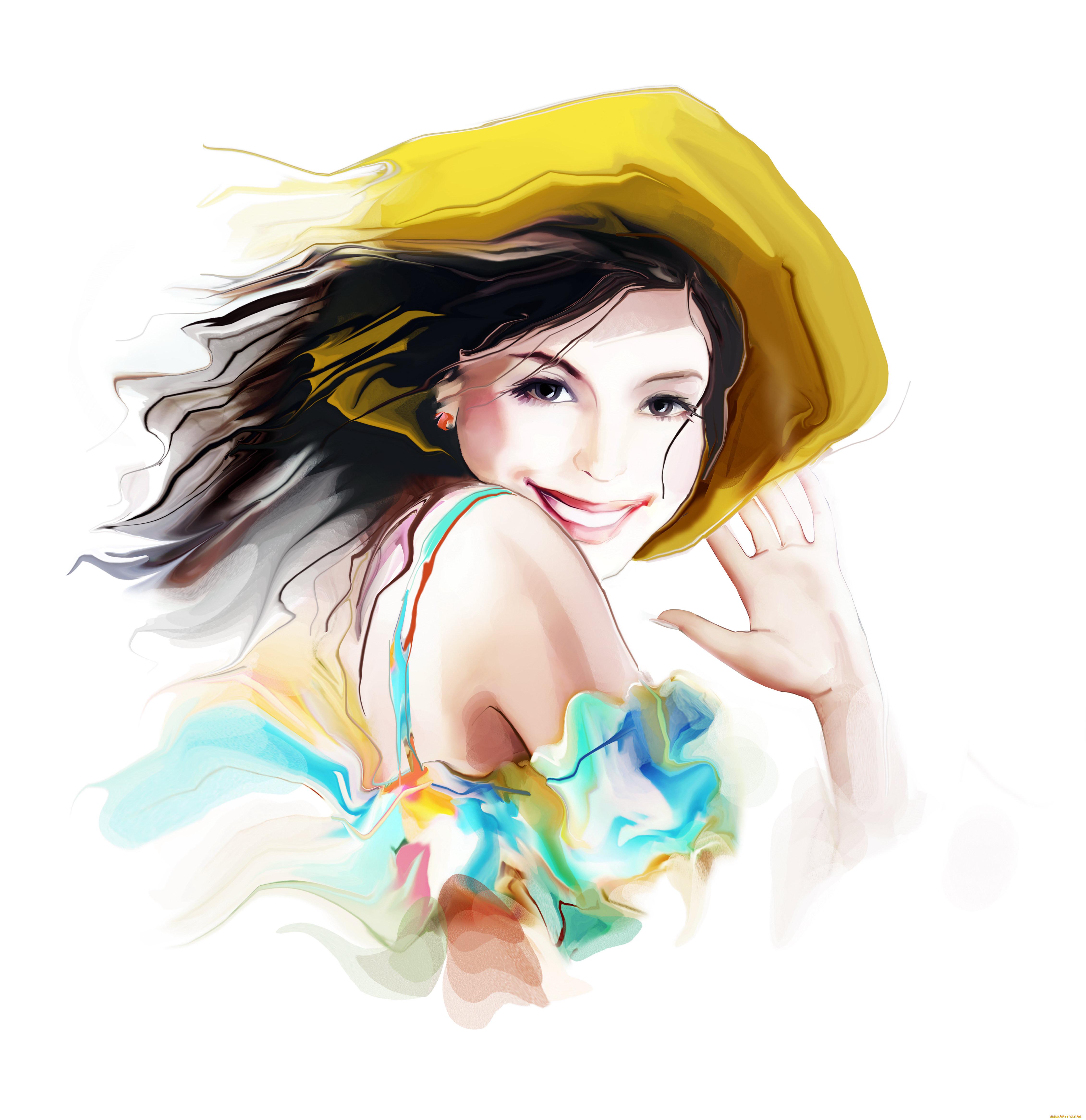 Картинка счастливая женщина рисунок
